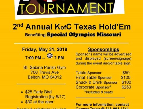 May 31 – Texas Hold 'Em Poker Tournament: