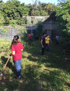 Our scholarship students worked on a community project.