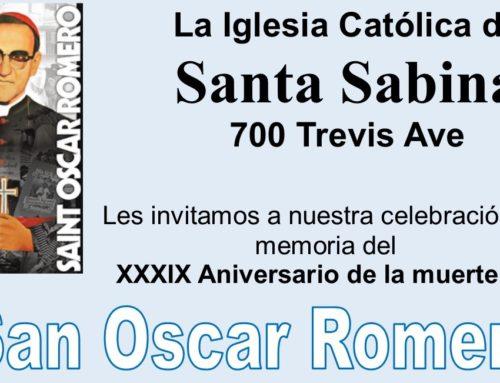 Romero Celebration – March 23