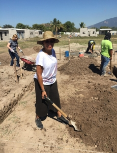 Jeannine helping build new homes in the community