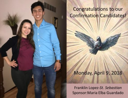 Congrats to the Confirmation Candidates!