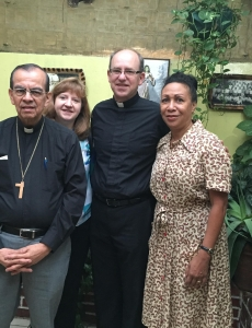Visiting with Monsignor Rosa Chavez
