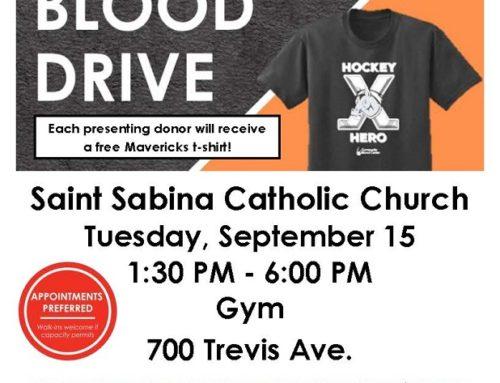 Blood Drive – September 15