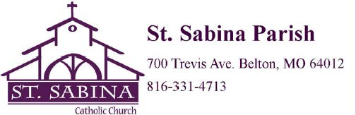 St. Sabina Parish Home Logo