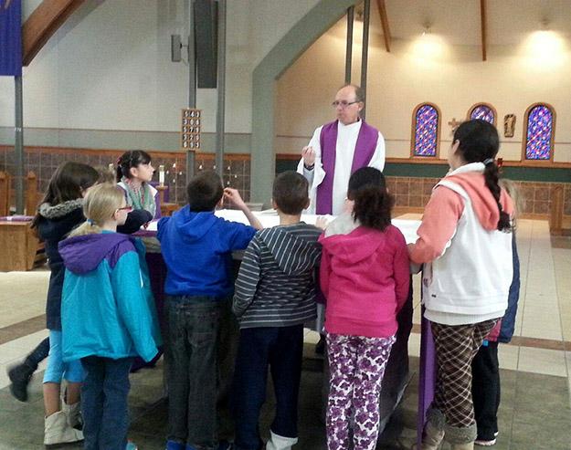 Children at altar