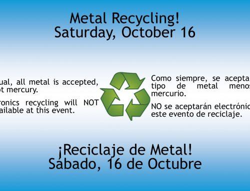 Metal Recycling – October 16
